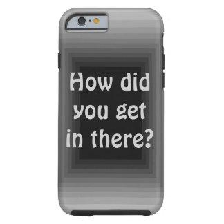Op Art Grey Silver Black Unusual iPhone6 Case 3