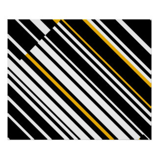 Op Art Homage to GF Diagonal Lines Four Posters
