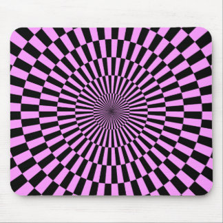 Op Art - Light Violet and Black Mouse Pad