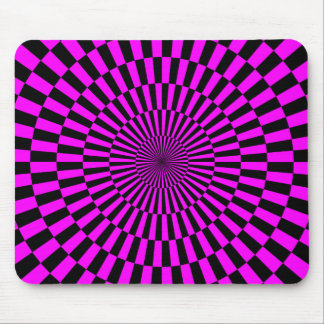 Op Art - Magenta and Black Mouse Pad