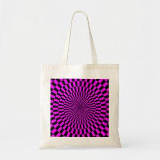 Op Art - Magenta and Black Tote Bag