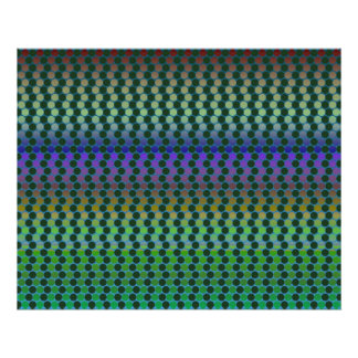Op Art One Thousand Circles Alternated Gradients M Poster