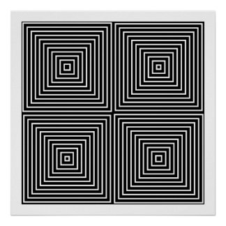Op Art Only Symmetrical Shapes 01 Poster