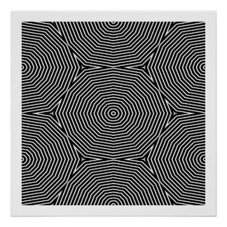 Op Art Only Symmetrical Shapes 04 Seamless Posters
