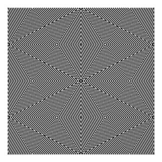 Op Art Only Symmetrical Shapes 06 Poster