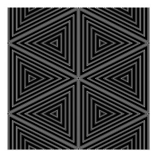 Op Art Only Symmetrical Shapes 07 Poster