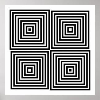 Op Art Only Symmetrical Shapes 08 Print