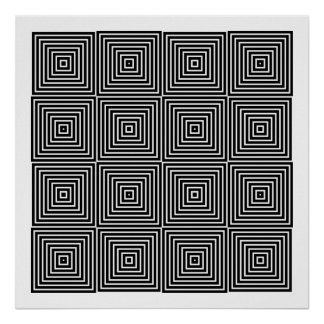 Op Art Only Symmetrical Shapes 10 Poster