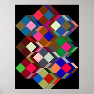 Op-Art (optical geometrical art) standard size Poster