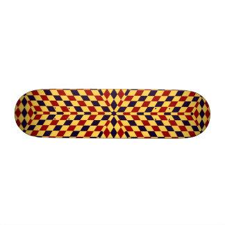 Op art, optical illusion geometrical art custom skate board