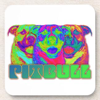 Op Art Pitbull Drink Coaster