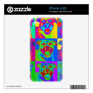 Op Art Pitbull Decal For iPhone 4