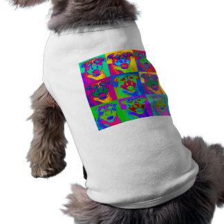 Op Art Pitbull Doggie Tshirt