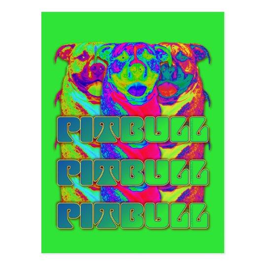 Op Art Pitbull Postcard