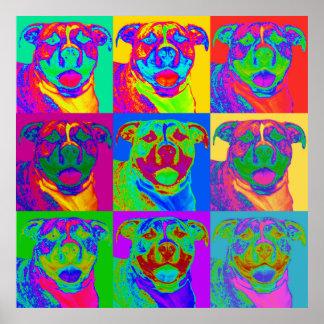 Op Art Pitbull Posters