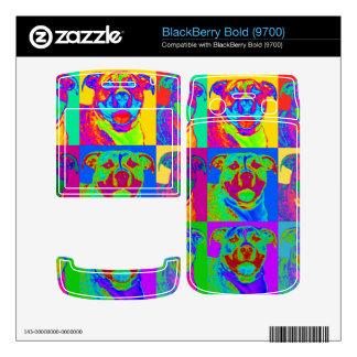 Op Art Pitbull Skins For BlackBerry