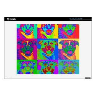 """Op Art Pitbull Skins For 14"""" Laptops"""