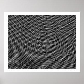 Op Art Random Moire Waves 01 Poster