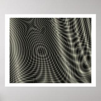 Op Art Random Moire Waves 09 Print