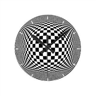Op Art Round Clock