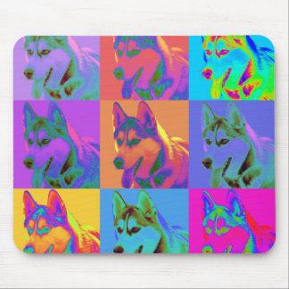 Op Art - Siberian Husky Mouse Pad