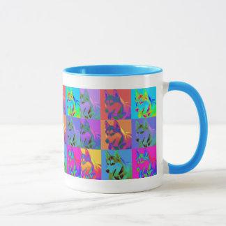 Op Art - Siberian Husky Mug