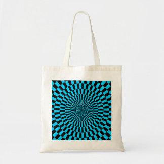 Op Art - Sky Blue and Black Tote Bag