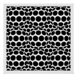 Op Art Spots and Spheres - Black and White Print