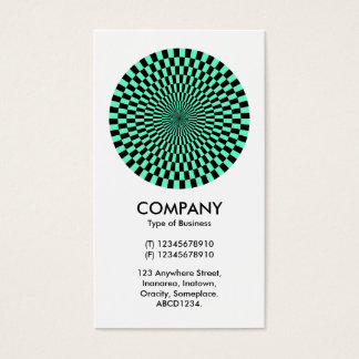 Op Art - Turquoise and Black Business Card