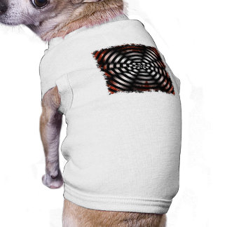 Op-Art Warning Doggie T Shirt