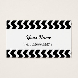 op-art waves in black and white business card