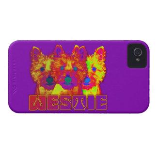 Op Art - West Highland Terrier iPhone 4 Case-Mate Cases