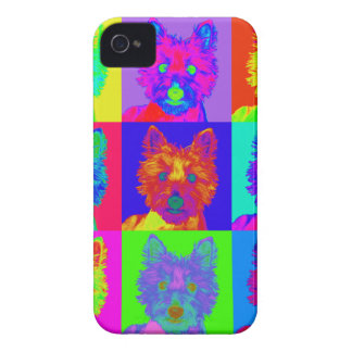Op Art - West Highland Terrier iPhone 4 Case-Mate Case