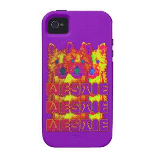 Op Art - West Highland Terrier iPhone 4 Cover
