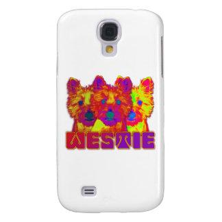 Op Art - West Highland Terrier Samsung Galaxy S4 Covers