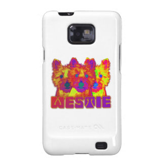 Op Art - West Highland Terrier Samsung Galaxy SII Covers