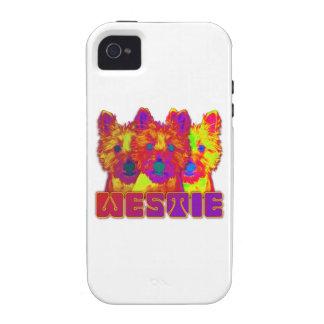 Op Art - West Highland Terrier Case-Mate iPhone 4 Cover