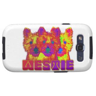 Op Art - West Highland Terrier Samsung Galaxy S3 Case