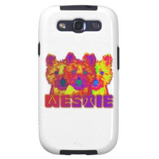 Op Art - West Highland Terrier Samsung Galaxy SIII Covers