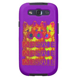 Op Art - West Highland Terrier Galaxy SIII Cover