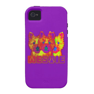 Op Art - West Highland Terrier Vibe iPhone 4 Covers