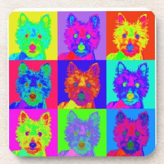 Op Art - West Highland Terrier Drink Coasters