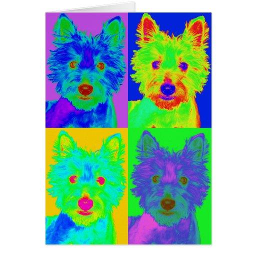 Op Art - West Highland Terrier Greeting Card