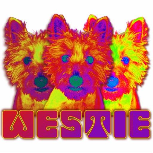 Op Art - West Highland Terrier Photo Sculptures