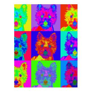 Op Art - West Highland Terrier Postcard