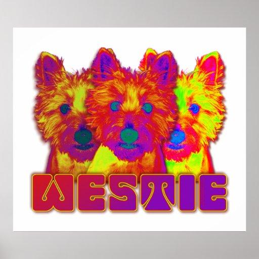 Op Art - West Highland Terrier Poster
