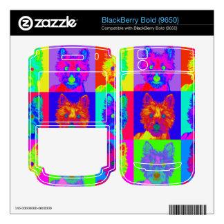 Op Art - West Highland Terrier BlackBerry Decals