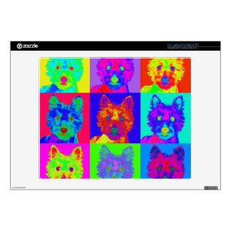"Op Art - West Highland Terrier 14"" Laptop Skins"