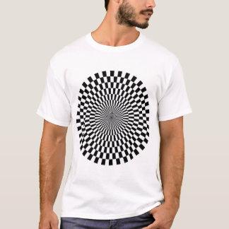 Op Art Wheel - Black and White T-Shirt