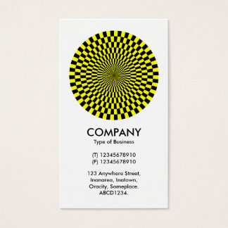 Op Art - Yellow and Black Business Card